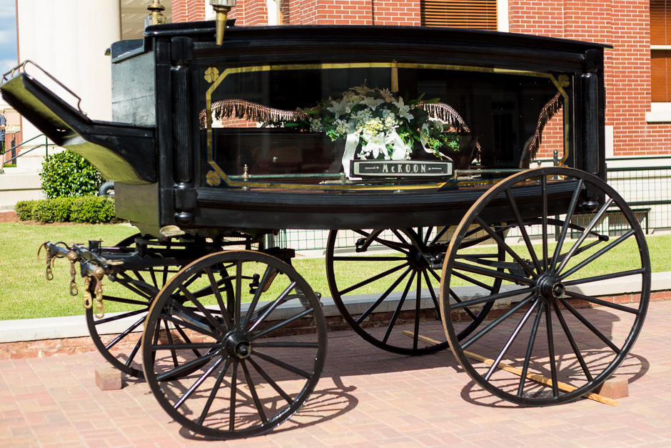 This Carriage Hearse on the Square was just one of the displays around the courthouse to commemorate the 150th anniversary of the Battle of Brown's Mill © 2014 Susan Crutchfield Photography