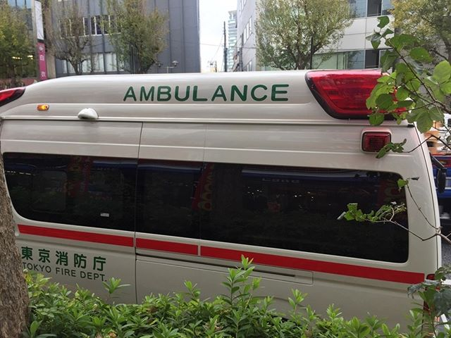 Here's an ambulance I saw in Tokyo. They used an old 30. No power lift or anything. I was disappointed. I thought Japan was in the future... Also, you should see Thrown To The Wolves on May 2 AND Emergency Monologues on May 6. Both at 8pm at Social Capital Theatre at 154 Danforth Ave. morganjonesphillips@gmail.com for more details. Sayonara!