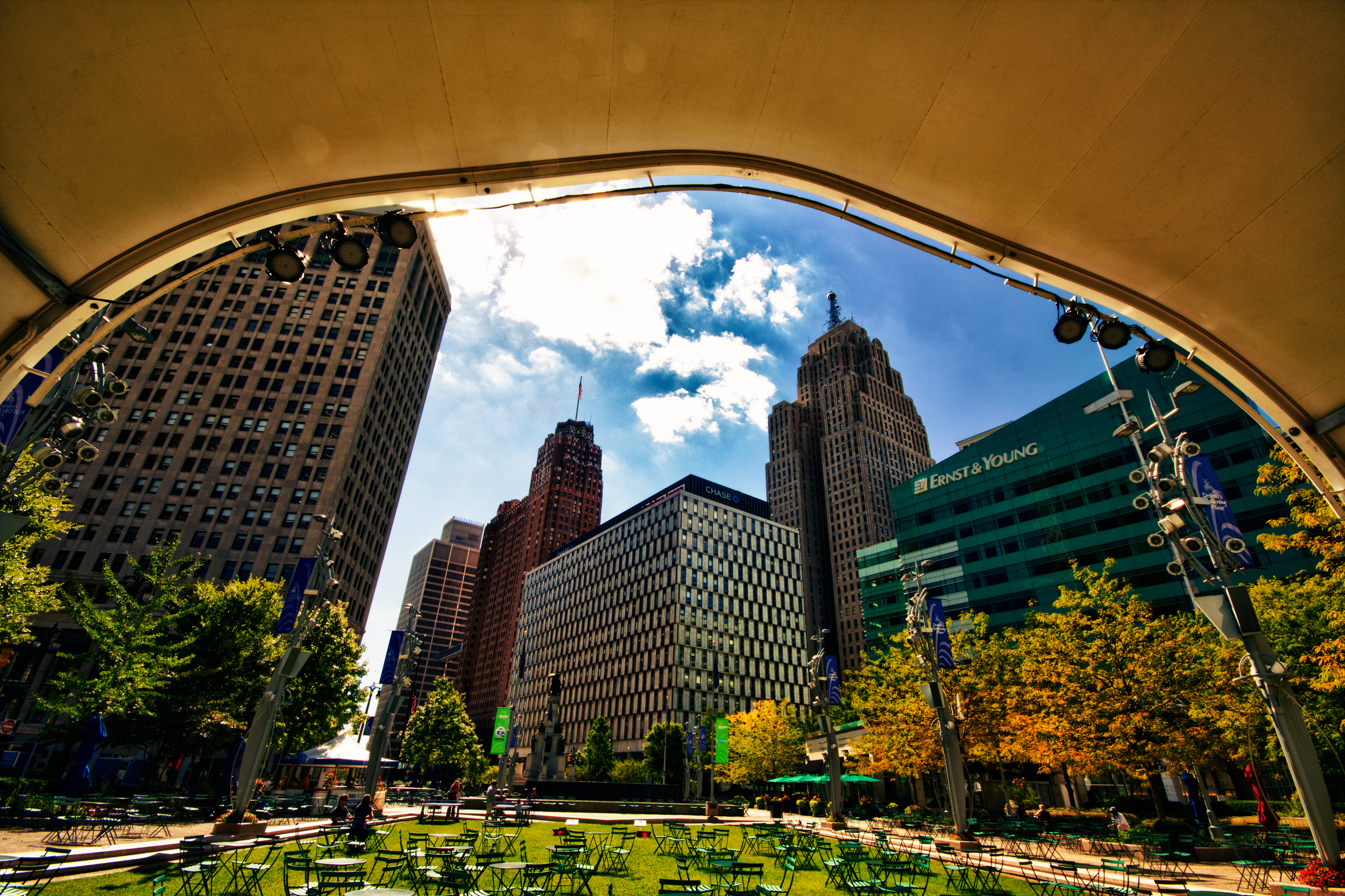 Campus Martius Band Shell