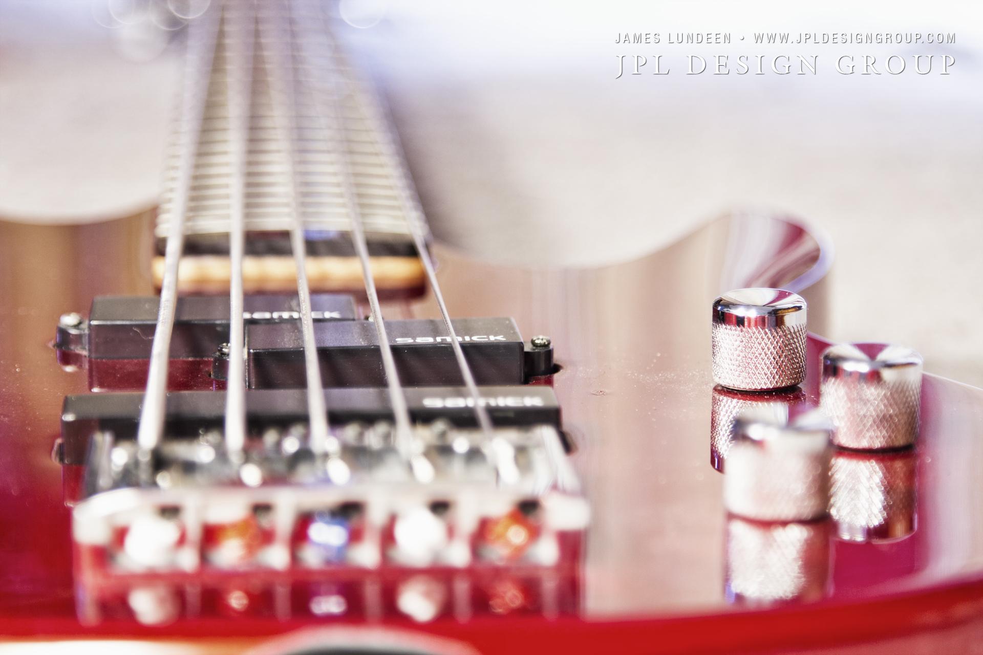 Color Photo of a 5 String Samick Bass Guitar