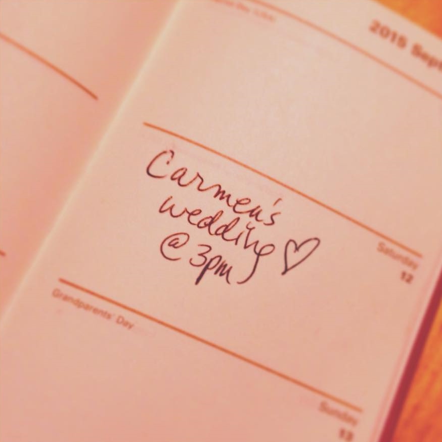 The very first addition to my 2015 planner :)