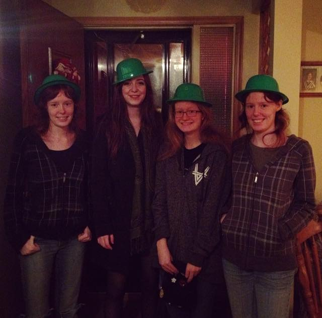 Paige and her 3 cousins at Christmas. Ginger mania!