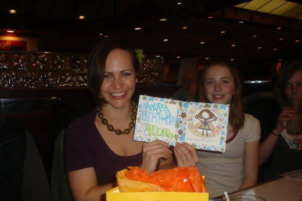 Flashback. Celebrating my 33rd birthday and loving Paige's card.