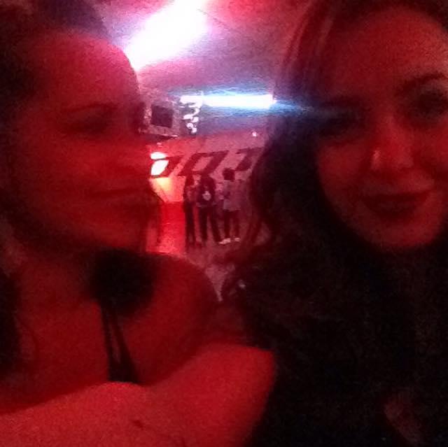 Retro nights. Retro lights. Me and my roller girl.