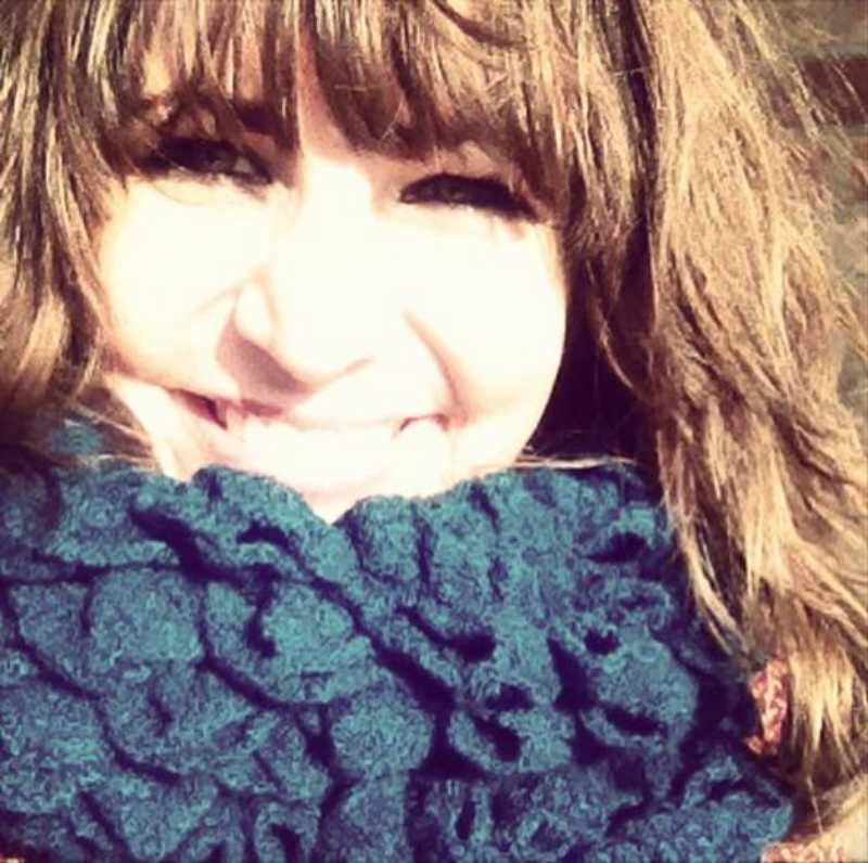 A fun scarf from Gayle for my birthday!