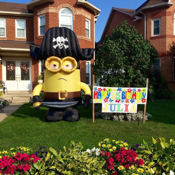 A birthday celebration up the street :)