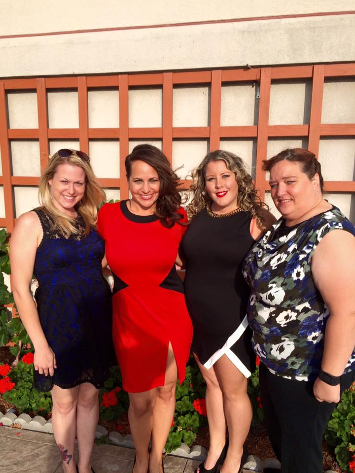 My wedding crew and new friends: Jenni, Jocelyn and Marcie