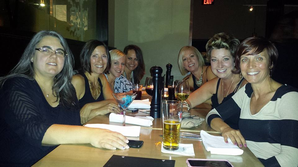 Dinner at Milestone's with the girls