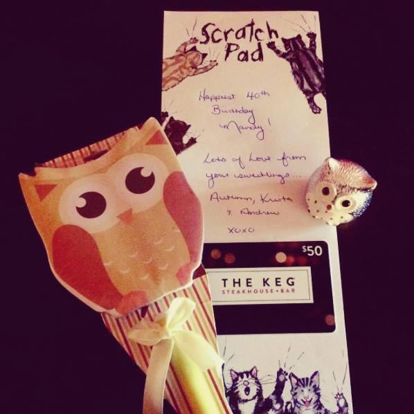 Birthday treasures from sweetling Krista xo