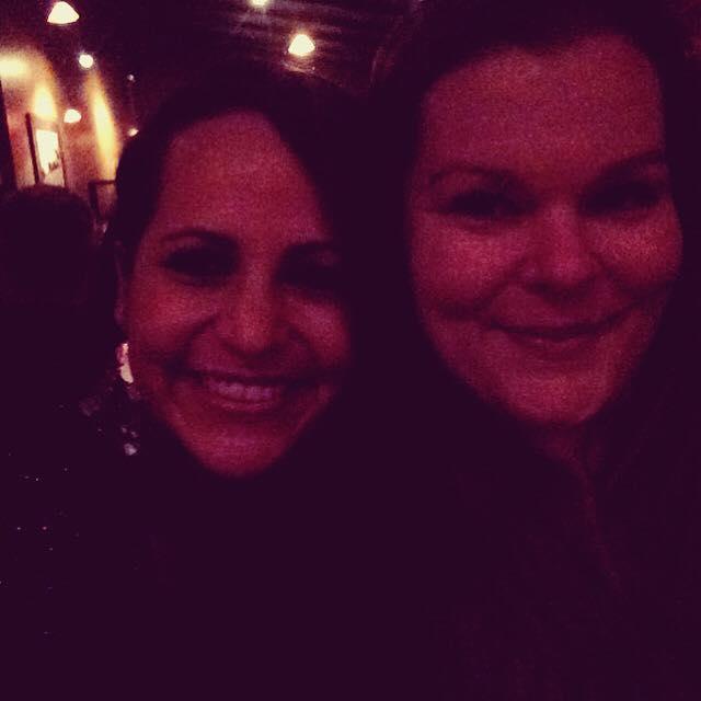 Pink ladies (me + Christen on my birthday)
