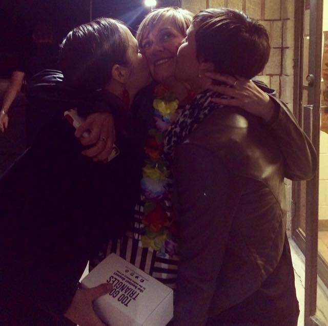 A 40th birthday kiss for Lynne xx