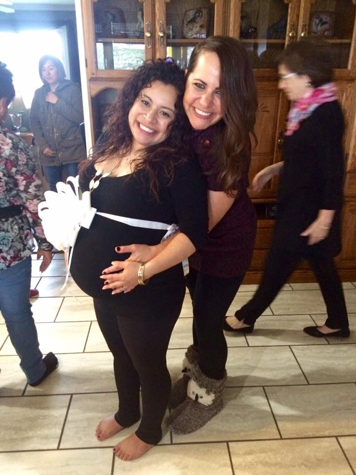 A week before Carmen had her little girl!