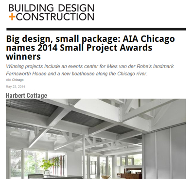 BUILDING DESIGN + CONSTRUCTION   HARBERT COTTAGE