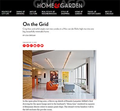 CHICAGO HOME + GARDEN   MIES RESIDENCE