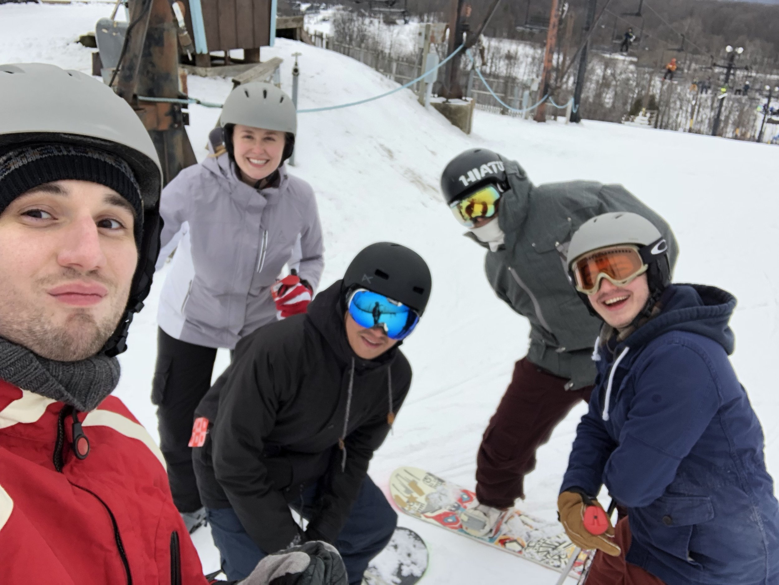 SLH SKI OUTING  The team enjoyed a great ski trip at Swiss Valley. No broken bones!