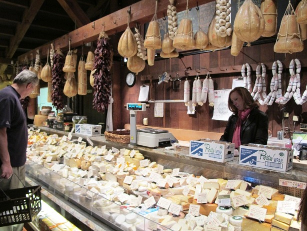 The Cheese Section at V. Sattui Deli