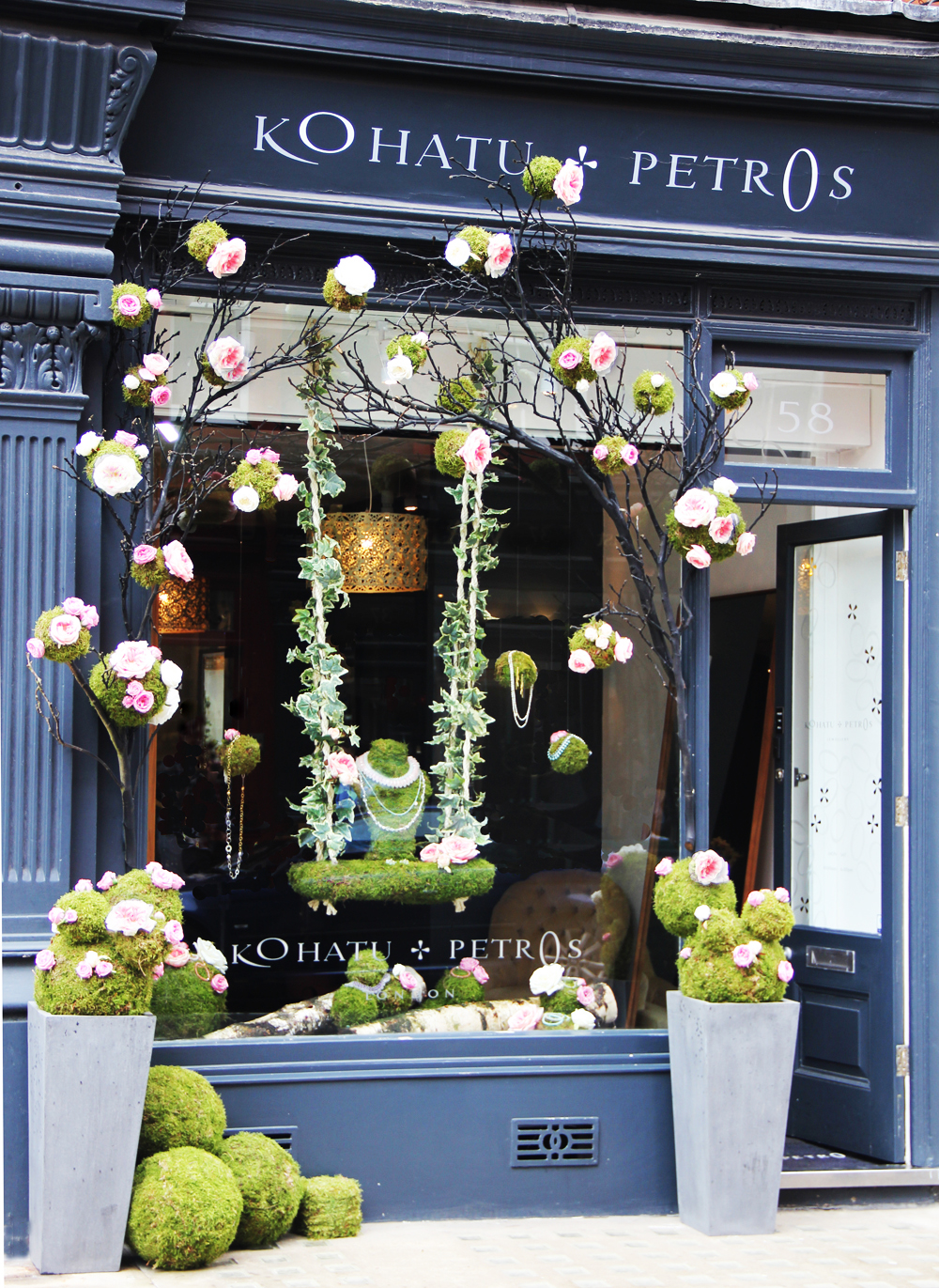 Winner of the Best Shop Window competition - Chiltern St boutique