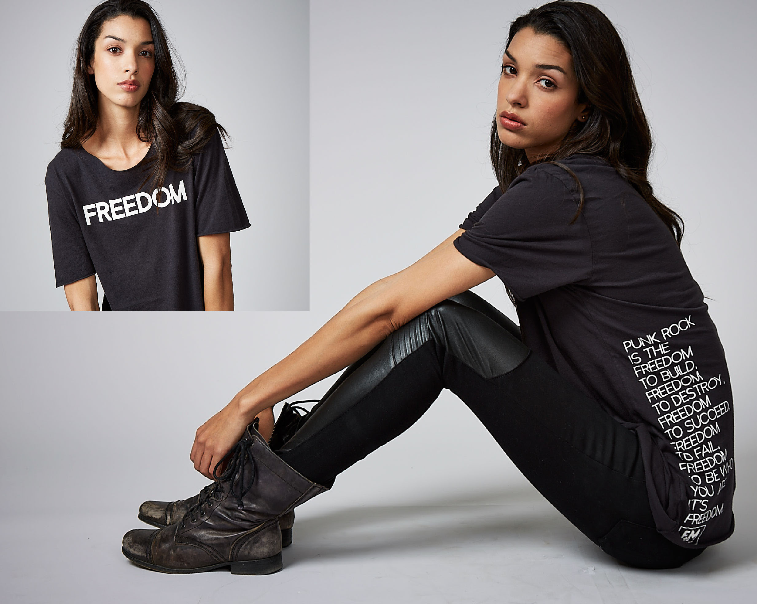 F+M Fashion and Music. Freedom Tee.