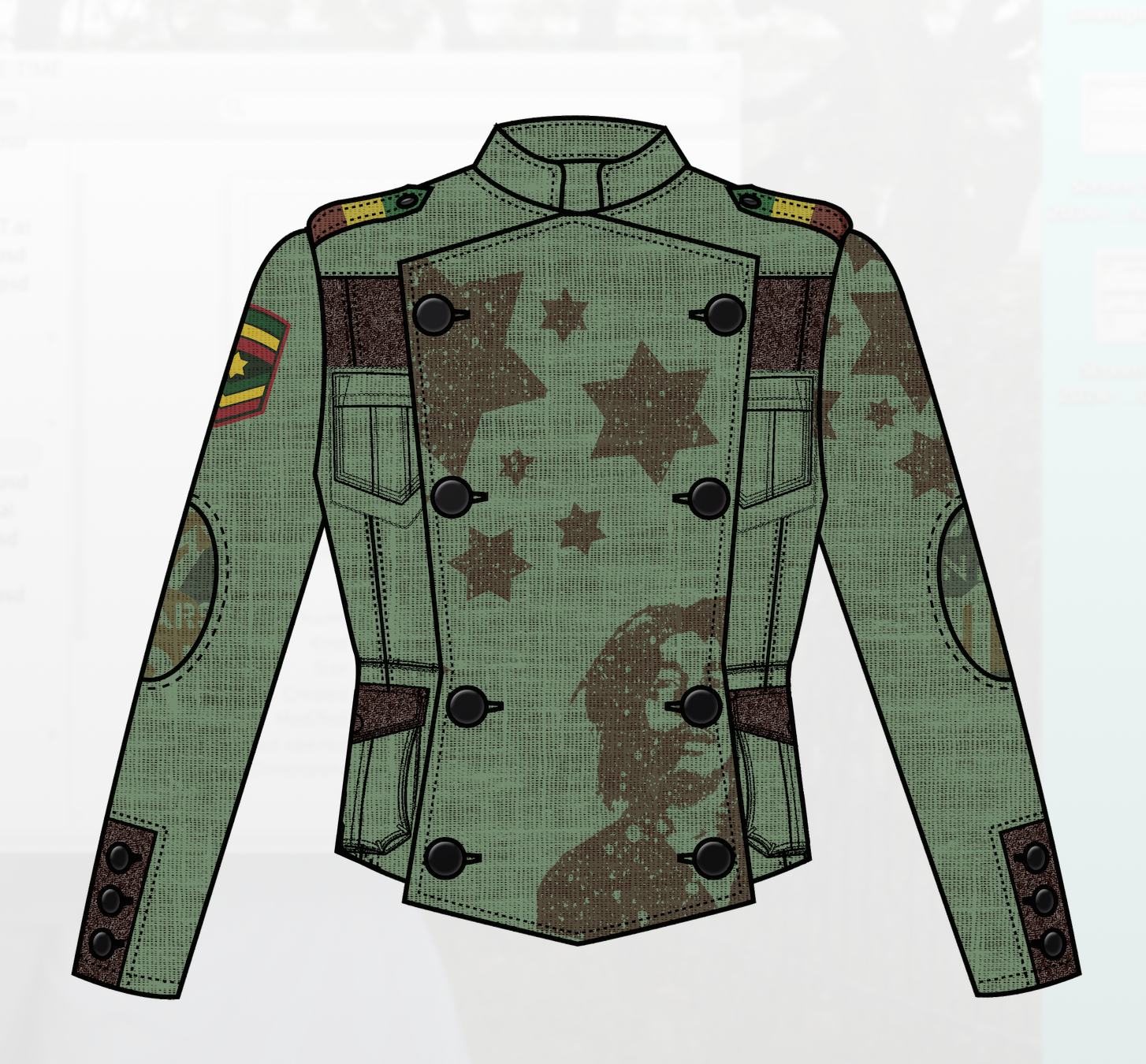 Catch A Fire Clothing. Military Jacket.