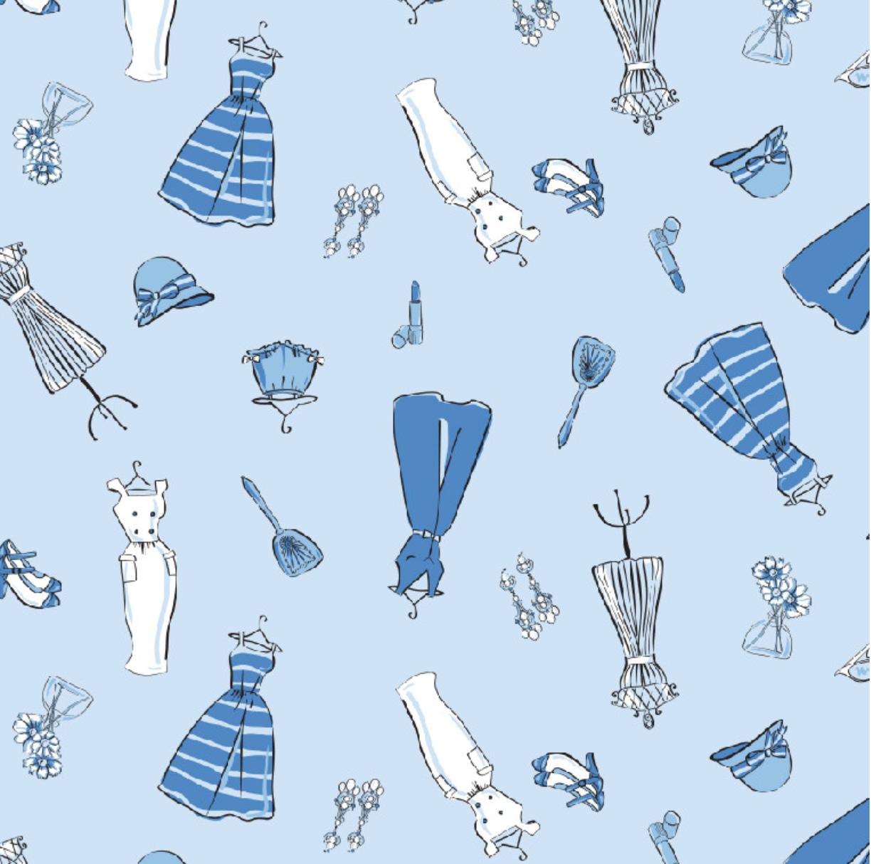 Richard Leeds International. Vintage Fashion Pajama Print.