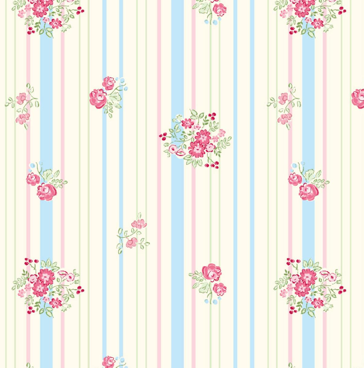 Richard Leeds International. Floral Stripe Pajama Print.