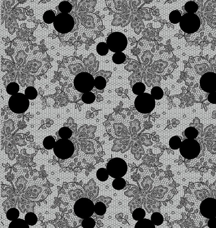 Richard Leeds International. Disney. Mickey and Lace Print.