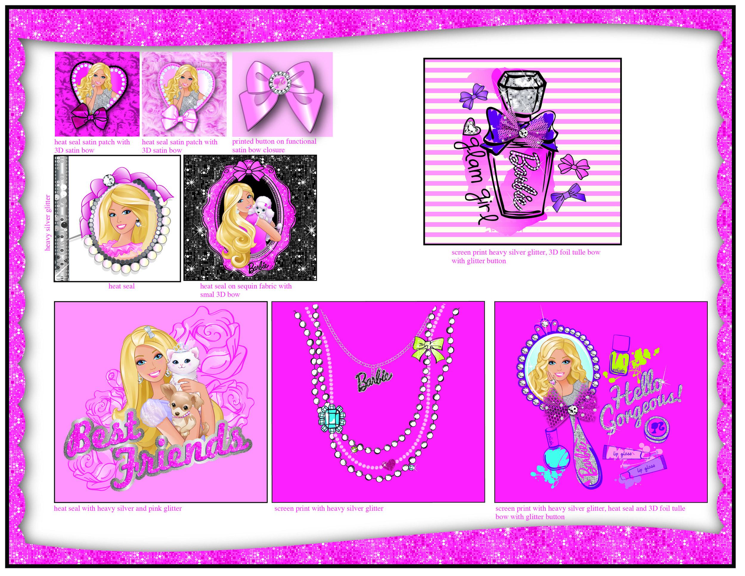 Bentex. Barbie. Bling Line Sheet Page 2.