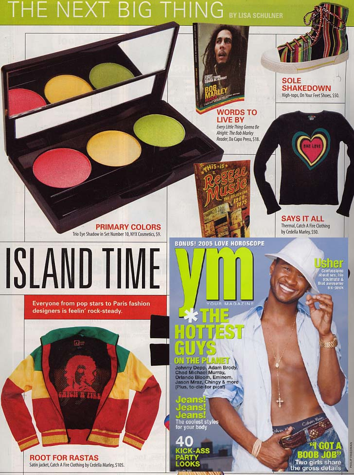 YM Magazine. Catch A Fire Clothing. Rasta Bob Jacket.
