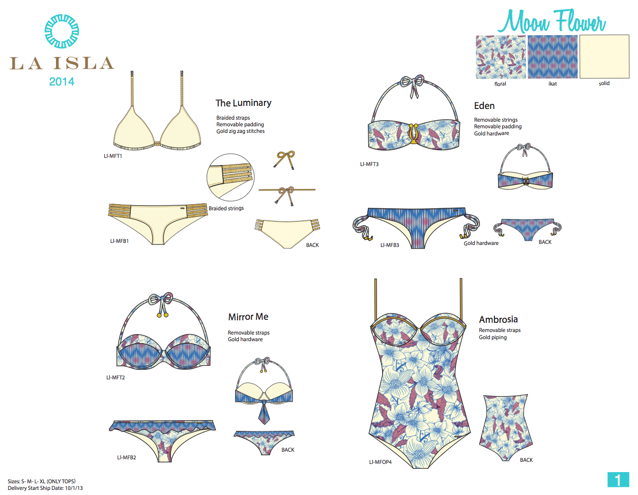 La Isla. Fashion Bodies & Line Sheet.