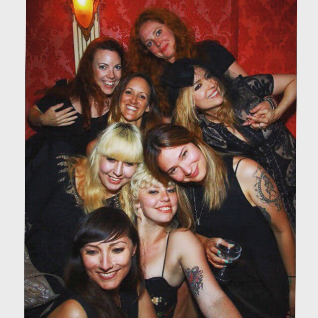 Last night of the Dove. #endofanera #girlpile #dovelies  (at The Dove Parlour)