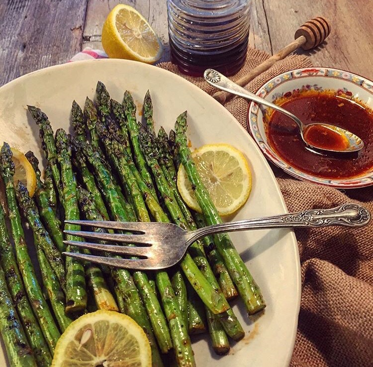HARISSA AND HONEY ASPARAGUS