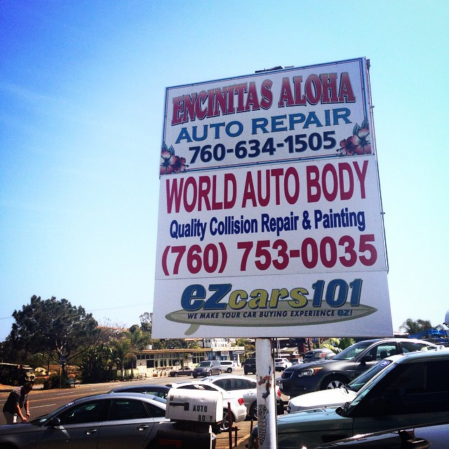 Cruise down the 101 Coast Highway and see if you can spy our hideaway! $5 reward off your car's maintenance oil change if you find us! 🙈 Hint: We're tucked in halfway between Captain Kenos and Lofty Coffee. #encinitas #leucadia #cardiffbythesea #solanabeach
