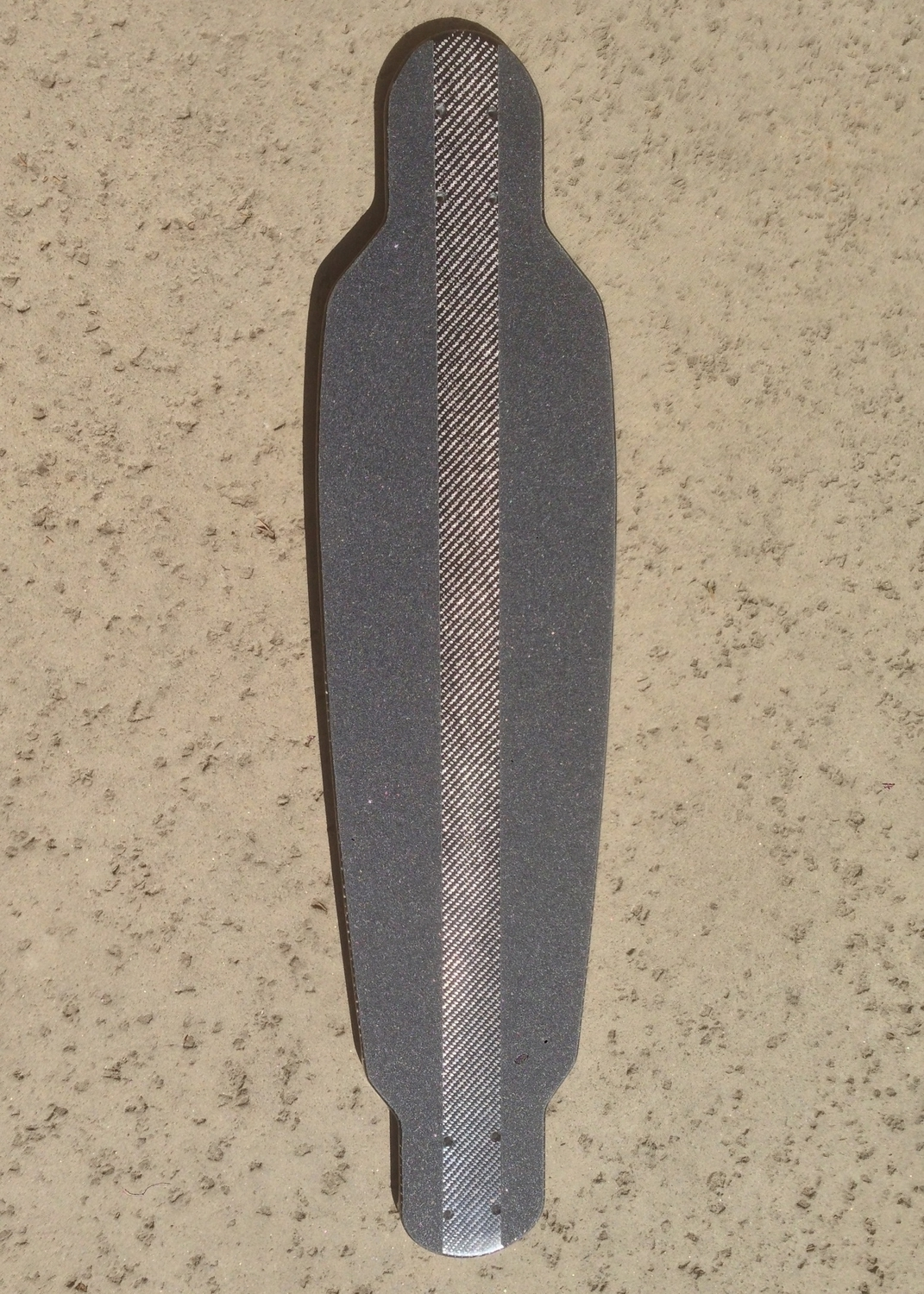 The shape if the board was 1/4 convex, 1/4 camber, with the profile shown above.