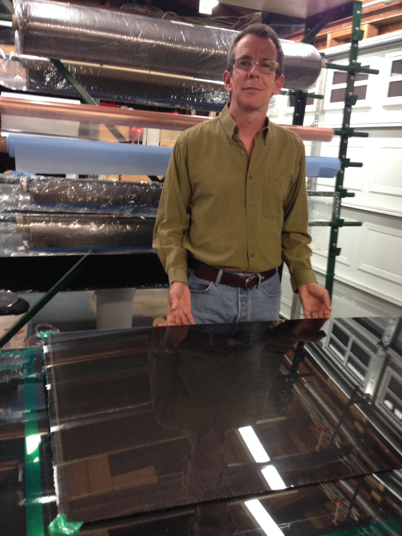 A Carbon Fiber Panel Fresh off the Mold