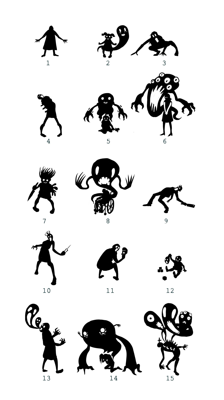 Poltergeist Character Thumbnails