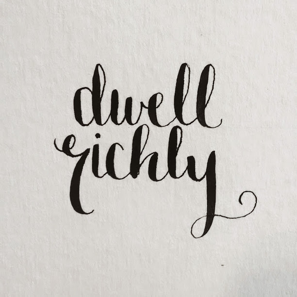 I've been uber inspired by my sister-in-law Jackie who has been creating some AMAZING calligraphic wording lately. I bought some new nibs and ink, and I've been practicing every day. Not perfect yet but I'm improving! Nib: Hunt 99 // Ink: Yasutomo Traditional Chinese Ink