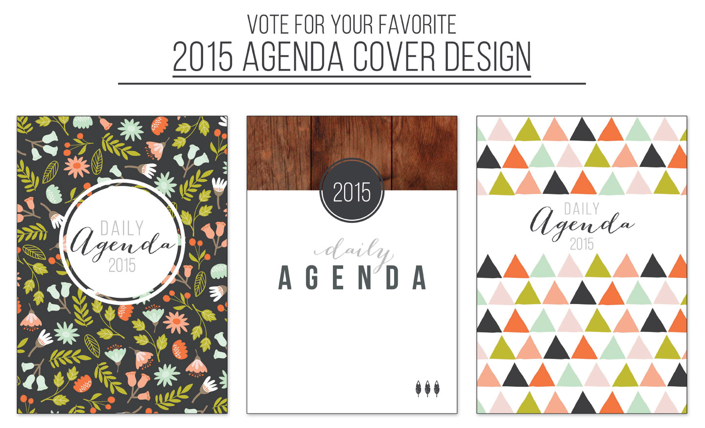 2015 Agenda Cover Designs by Jitney's Journeys