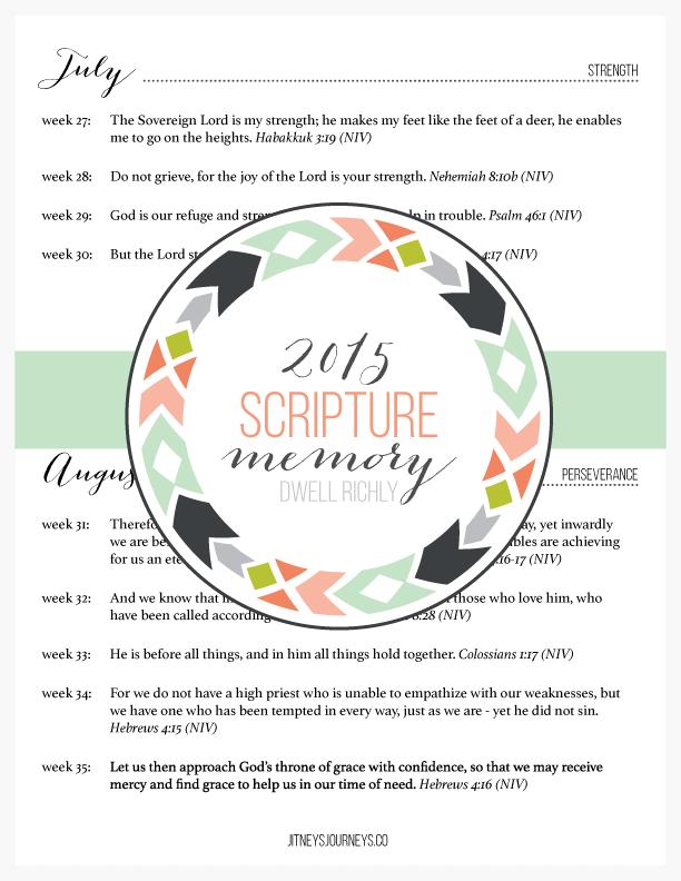 2015 Scripture Memory by Jitney's Journeys
