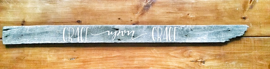 Grace Upon Grace Barnwood Sign via Jitney's Journeys
