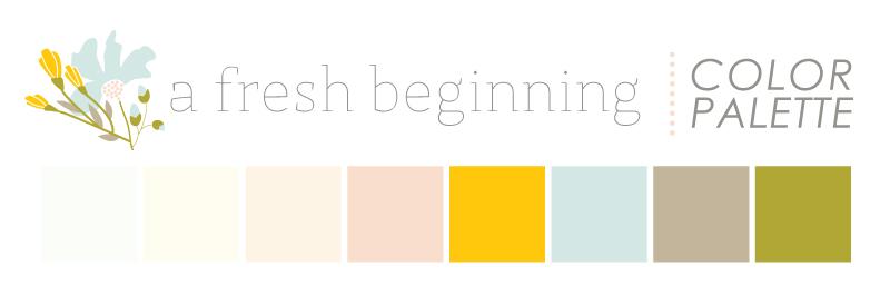 A Fresh Beginning Color Palette via Jitney's Journeys