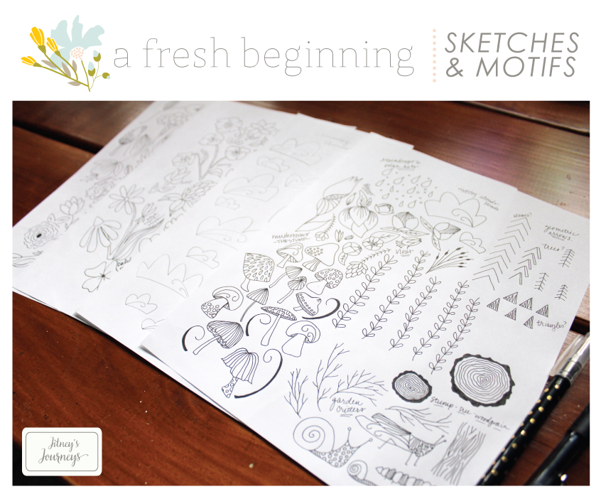 A Fresh Beginning Pattern Collection // Sketches and Motifs via Jitney's Journeys