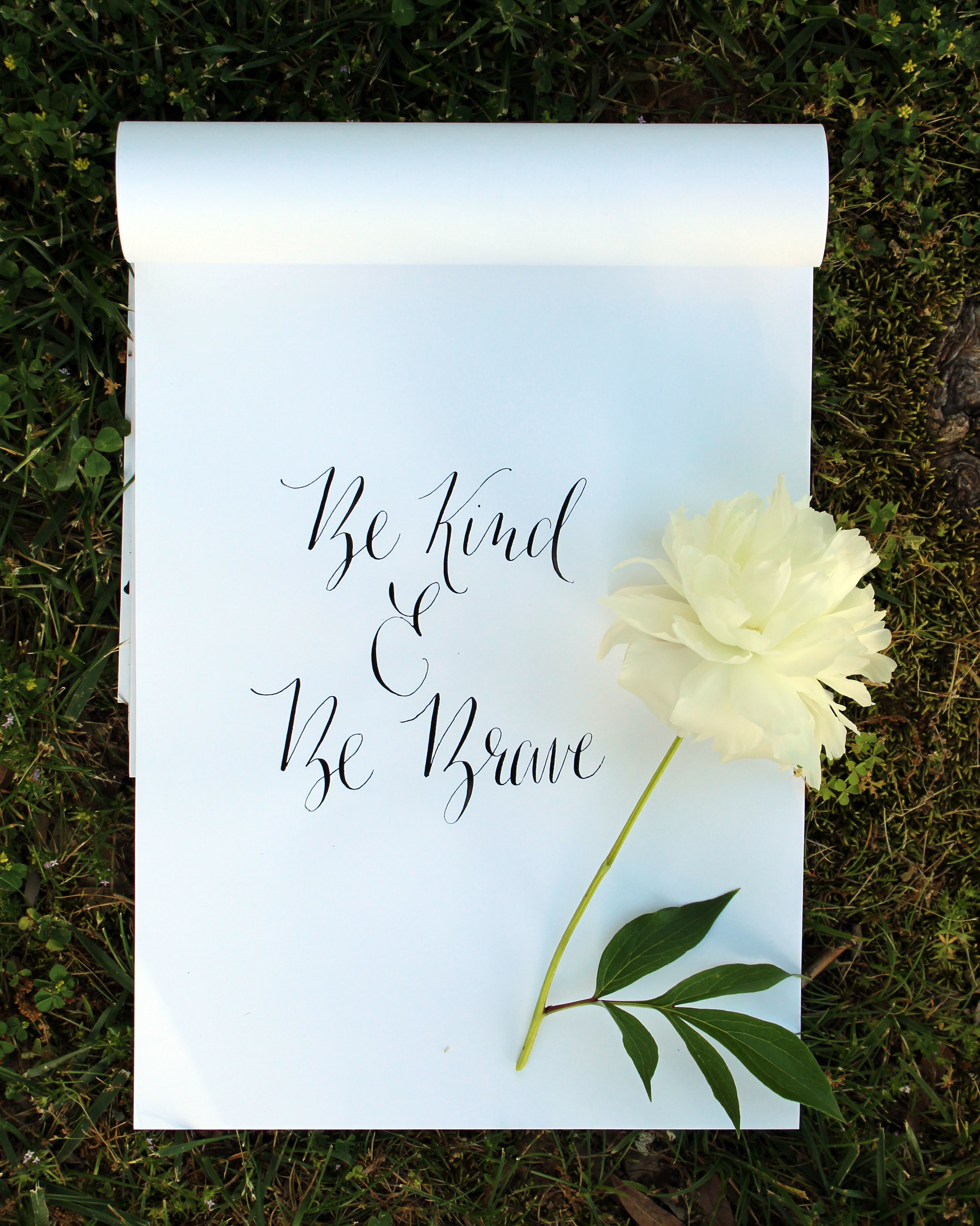 Be Kind & Be Brave // Calligraphy by Jitney's Journeys