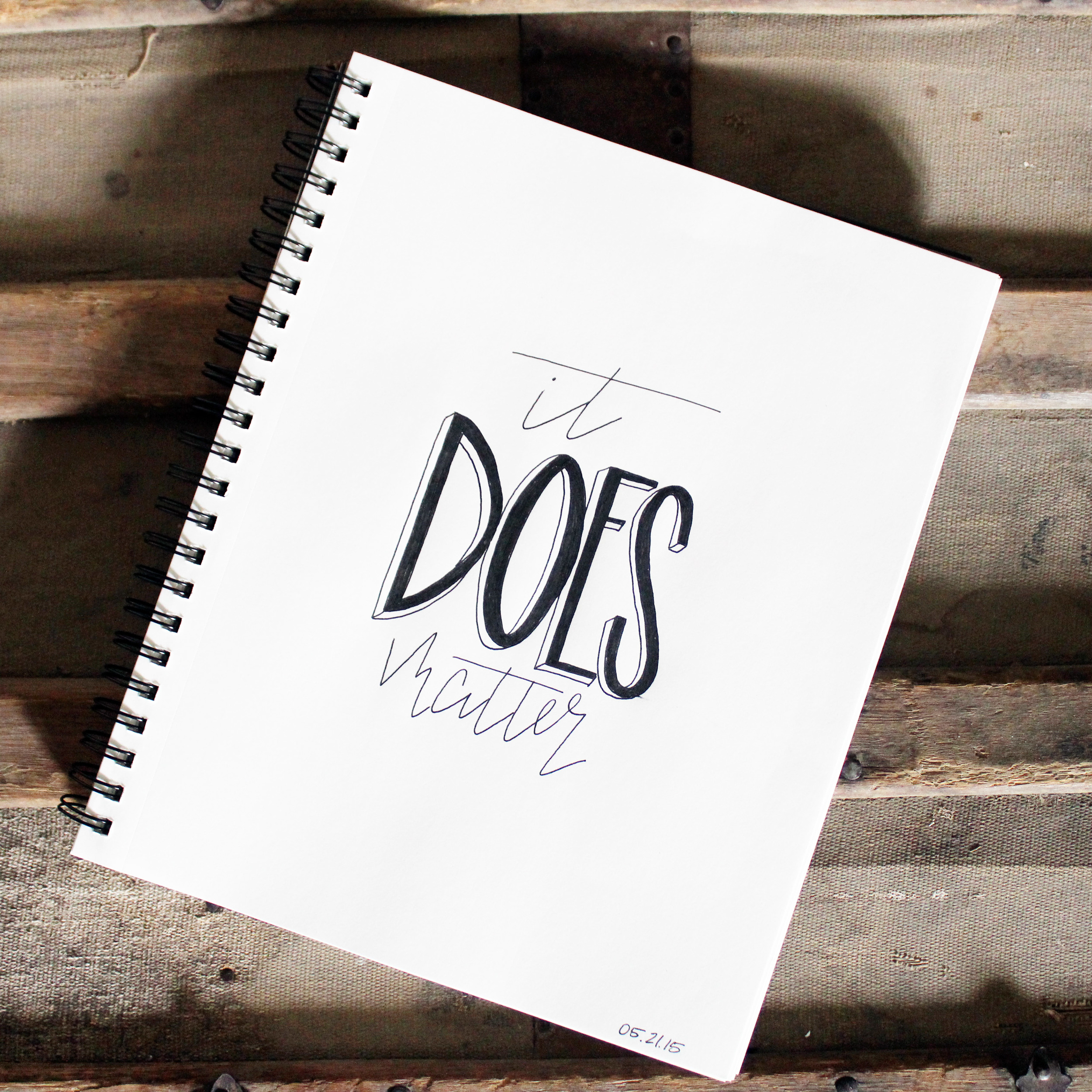 it does matter // Handlettering by Jitney's Journeys