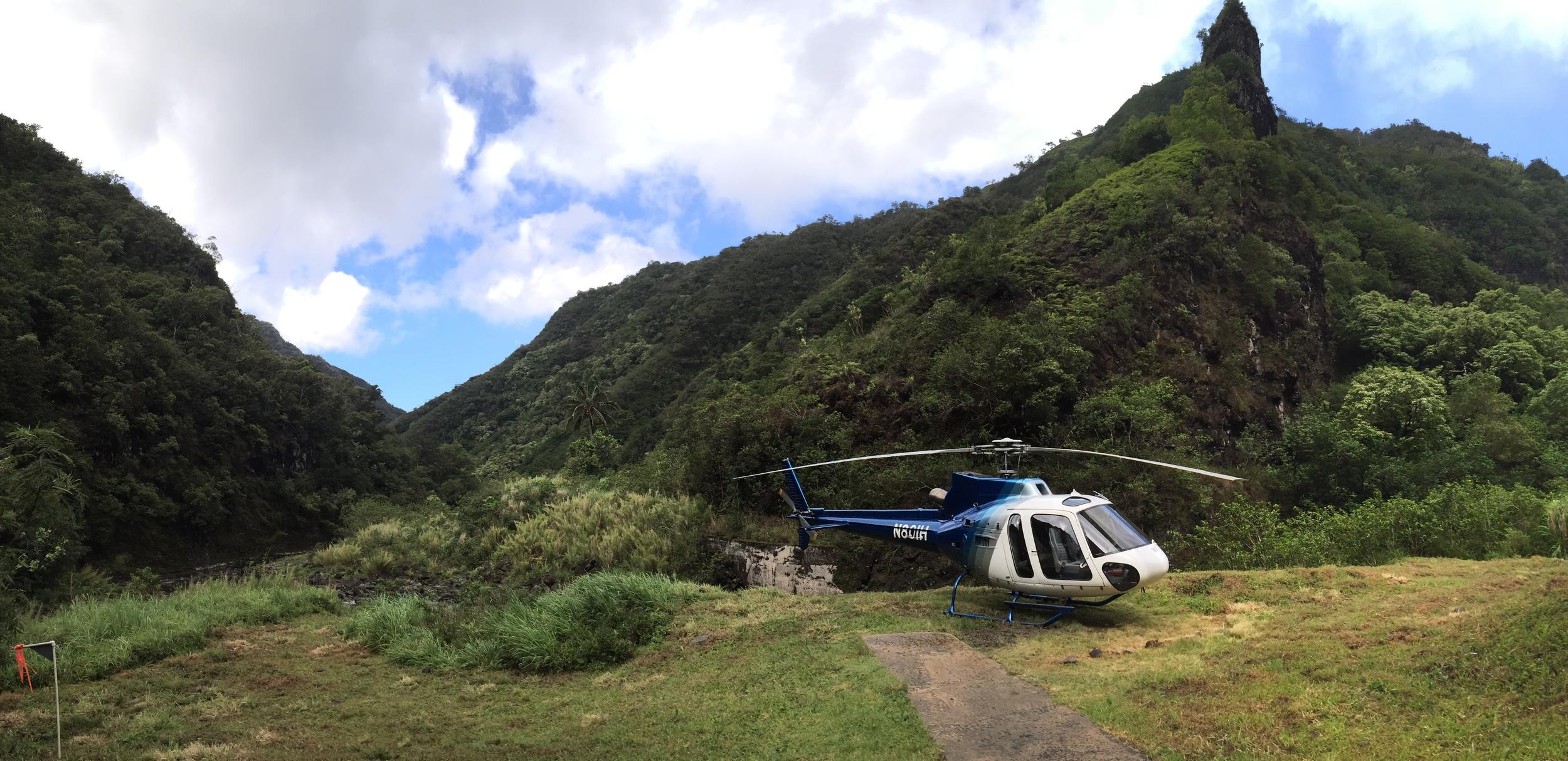 Island Helicopters Tour to Jurassic Falls // Kauai, Hawaii via Jitney's Journeys