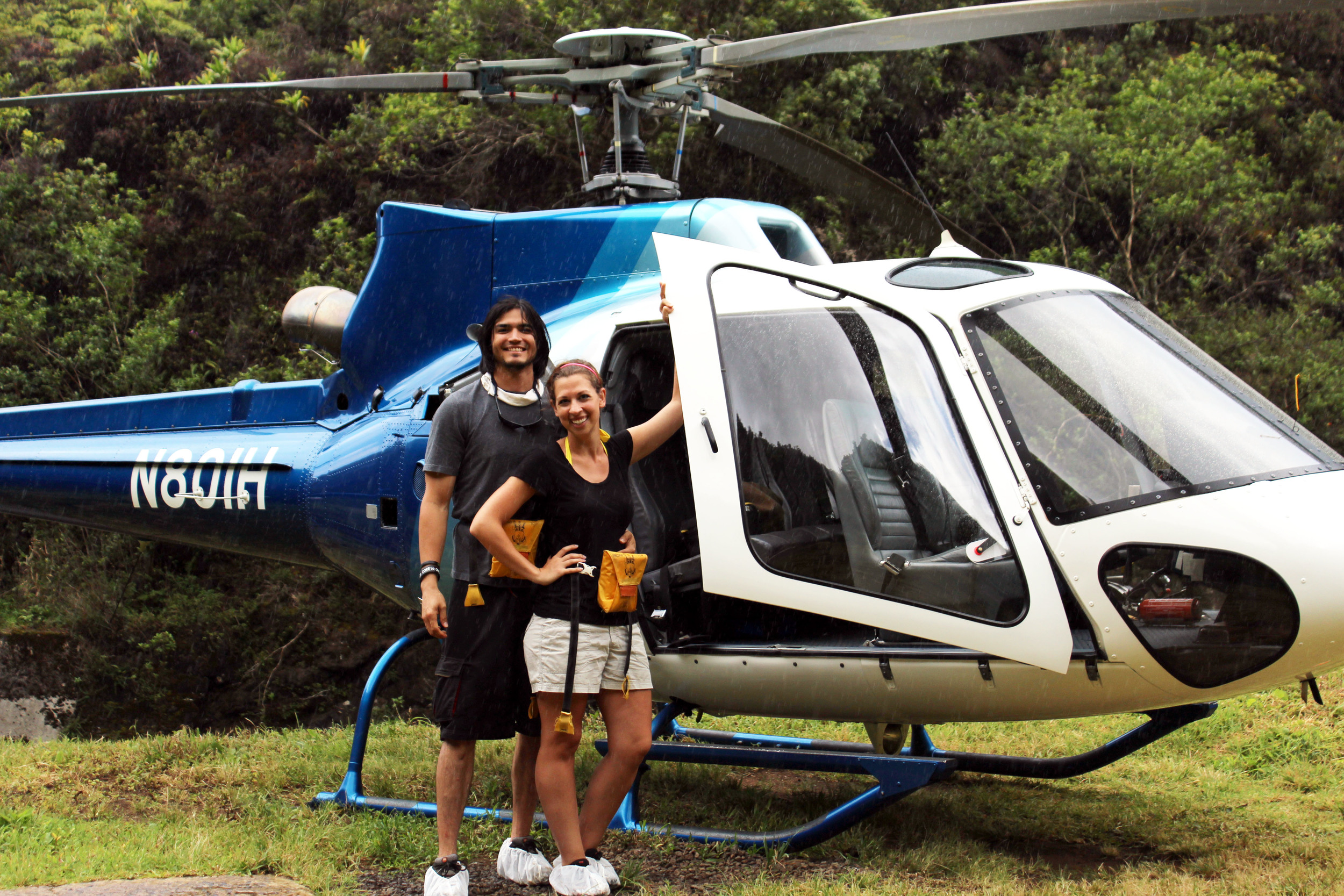 Jurassic Falls Tour with Island Helicopters in Kauai, Hawaii // via Jitney's Journeys
