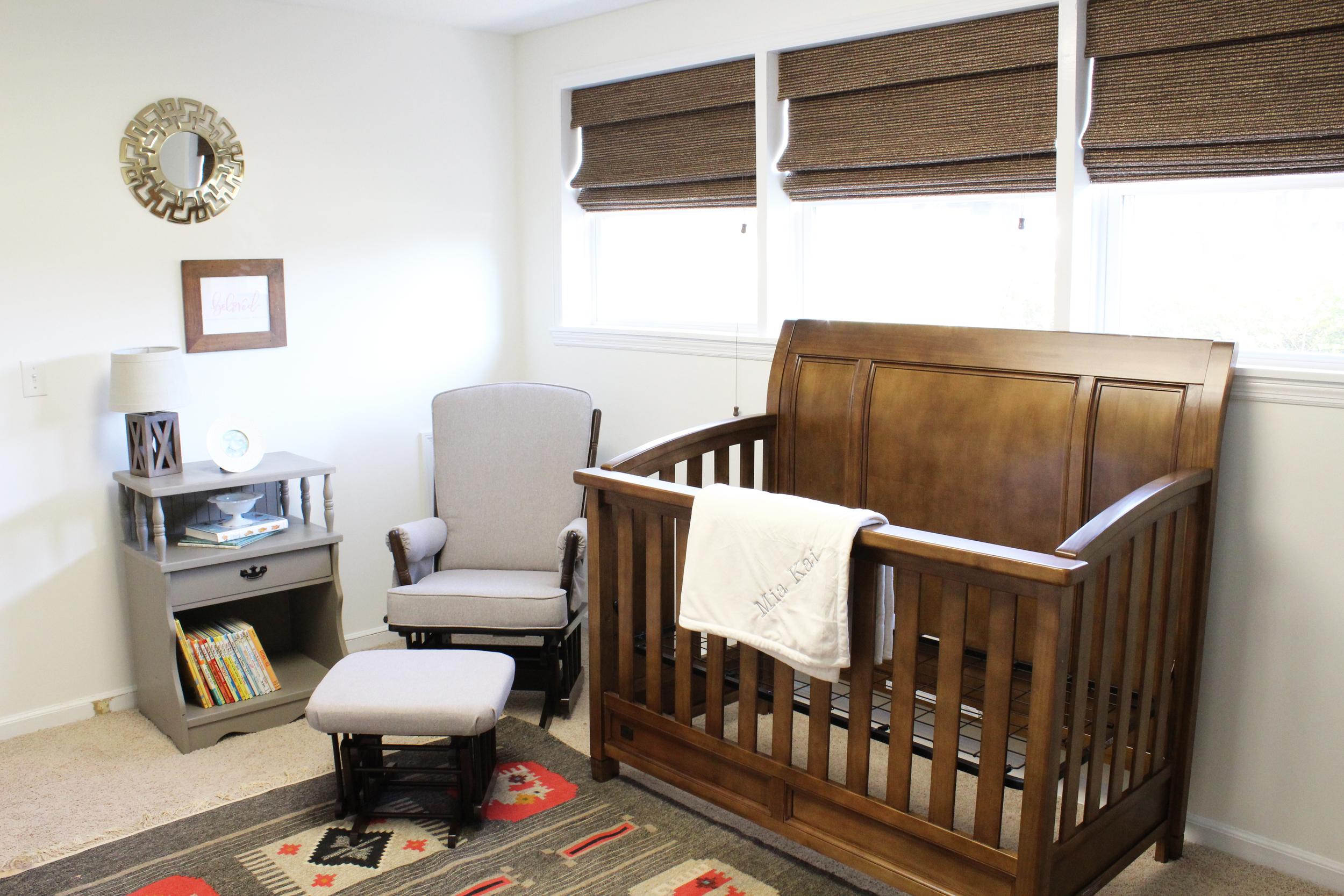Nursery for Sweet Girl // via Jitney's Journeys