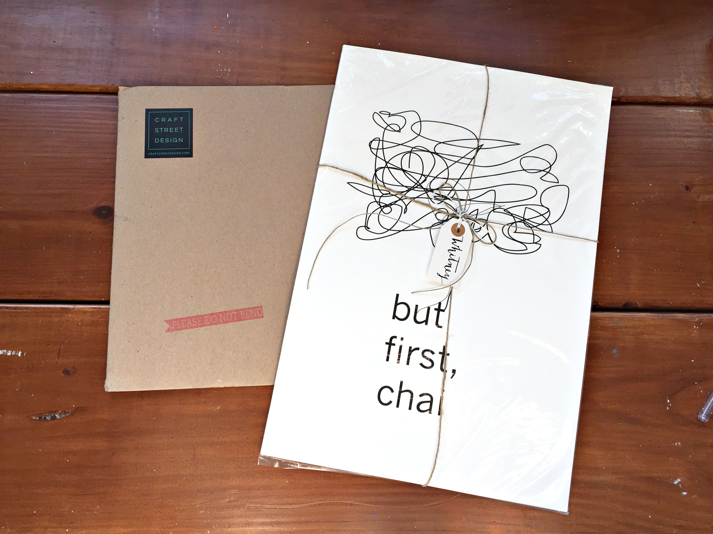 but first chai print by craft street design