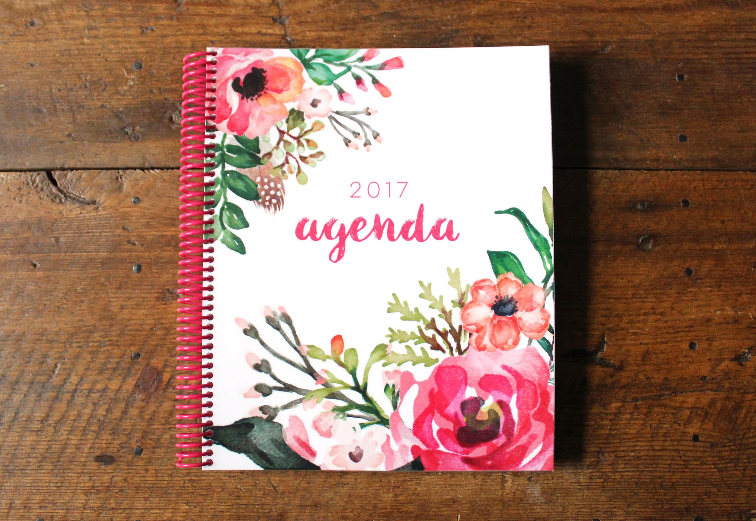 2017 Agenda via Jitney's Journeys // Planner Calendar Annual Monthly Weekly