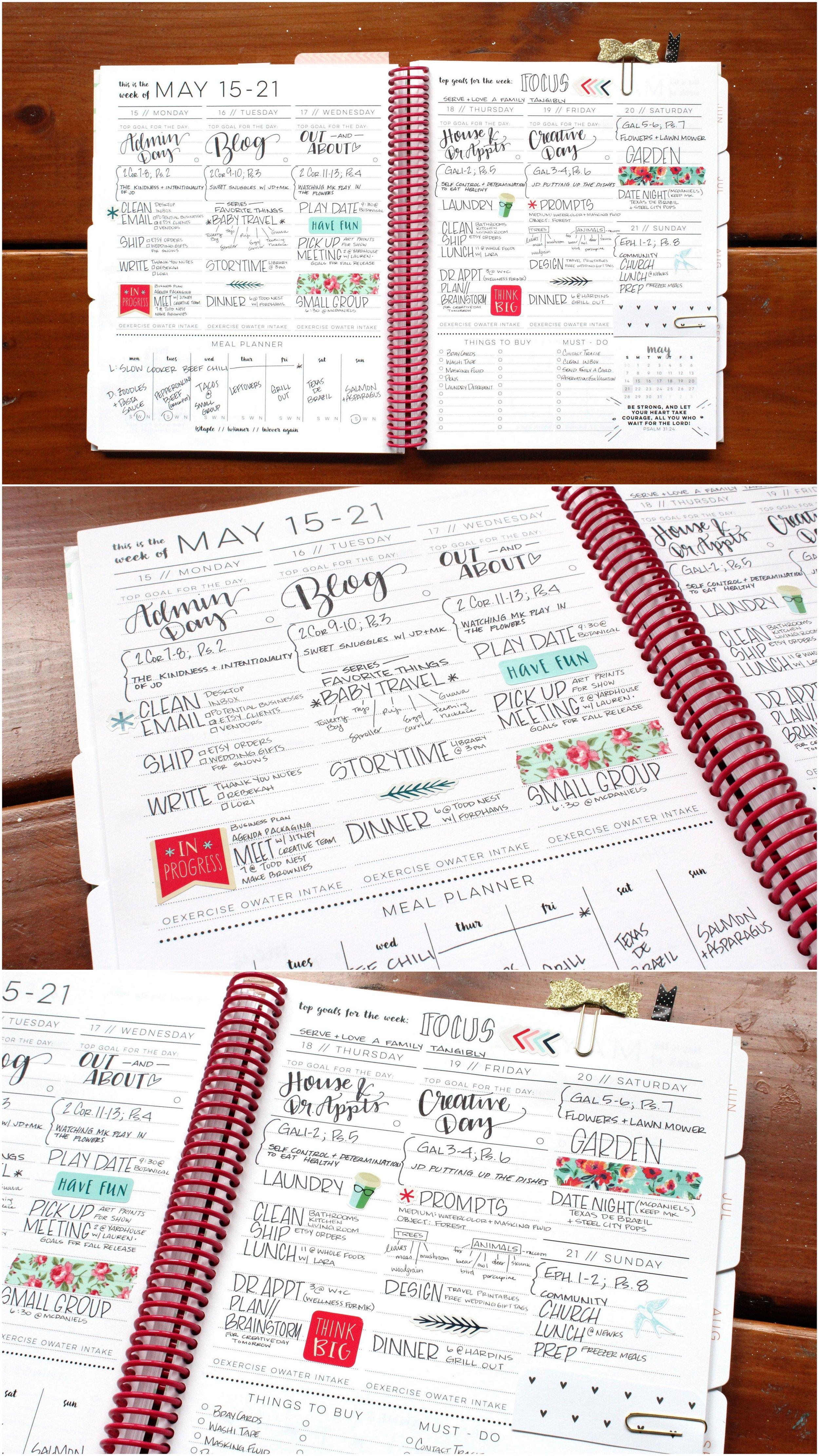 Weekly Layout Design Jitneys 2017 Agenda Planner
