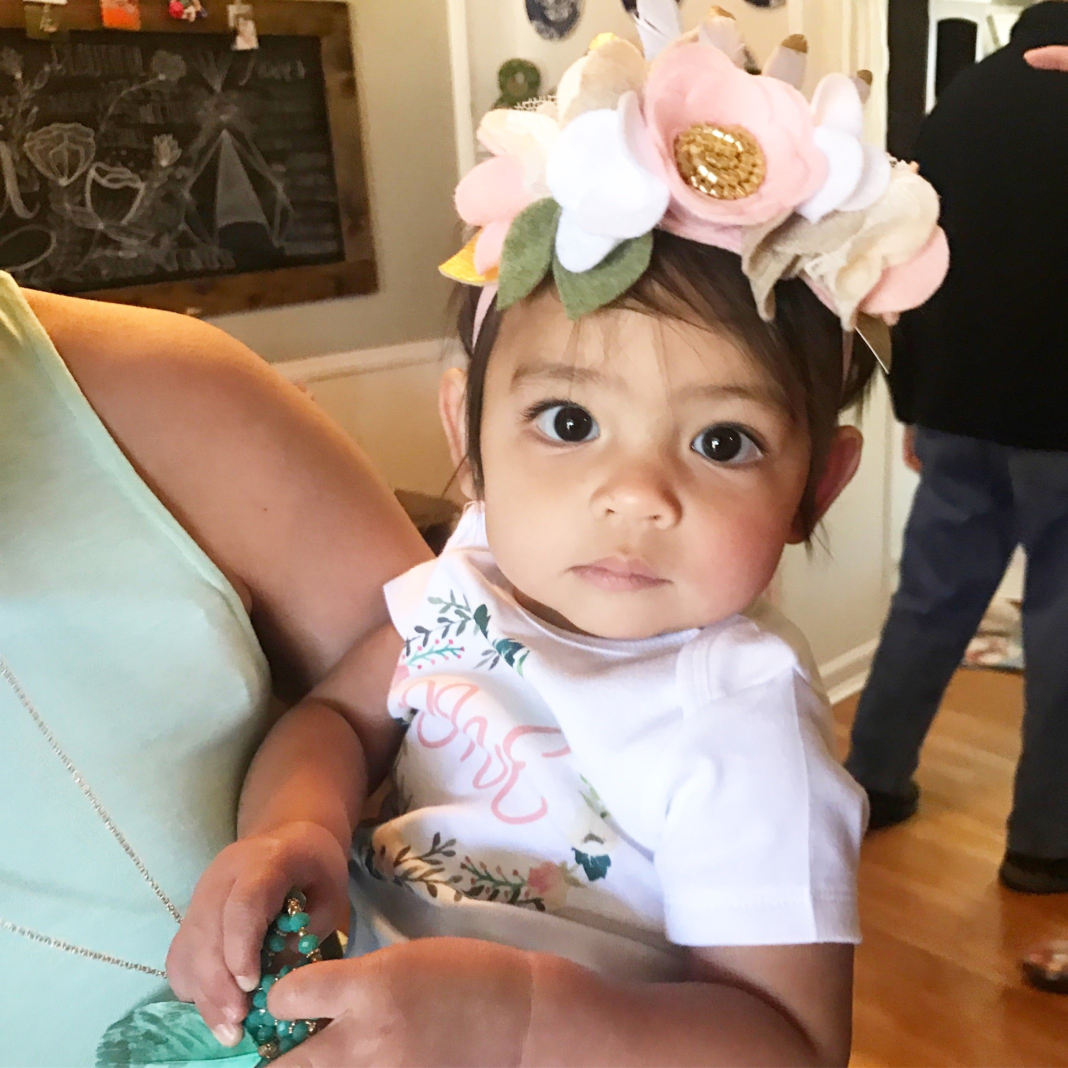 Beautiful Baby One Tribal Garden Floral Birthday Crown via Jitneys